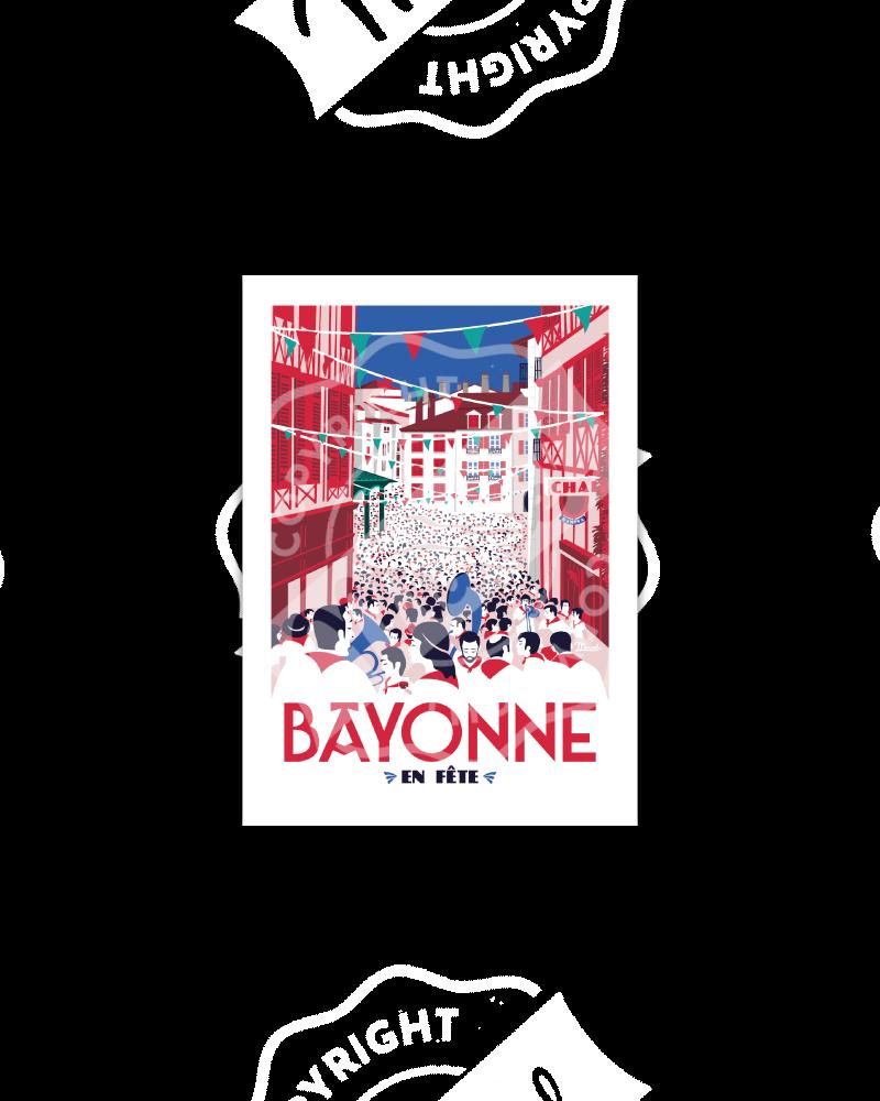 "Postcard  BAYONNE ""En Fête"""