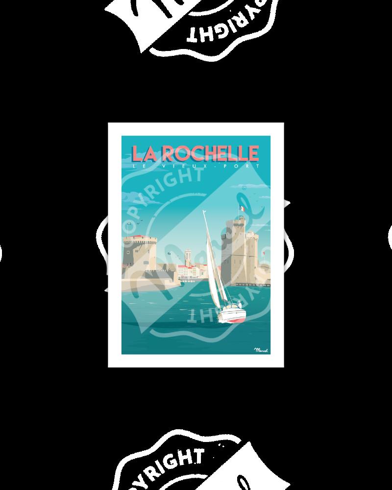 Postcard  LA ROCHELLE...