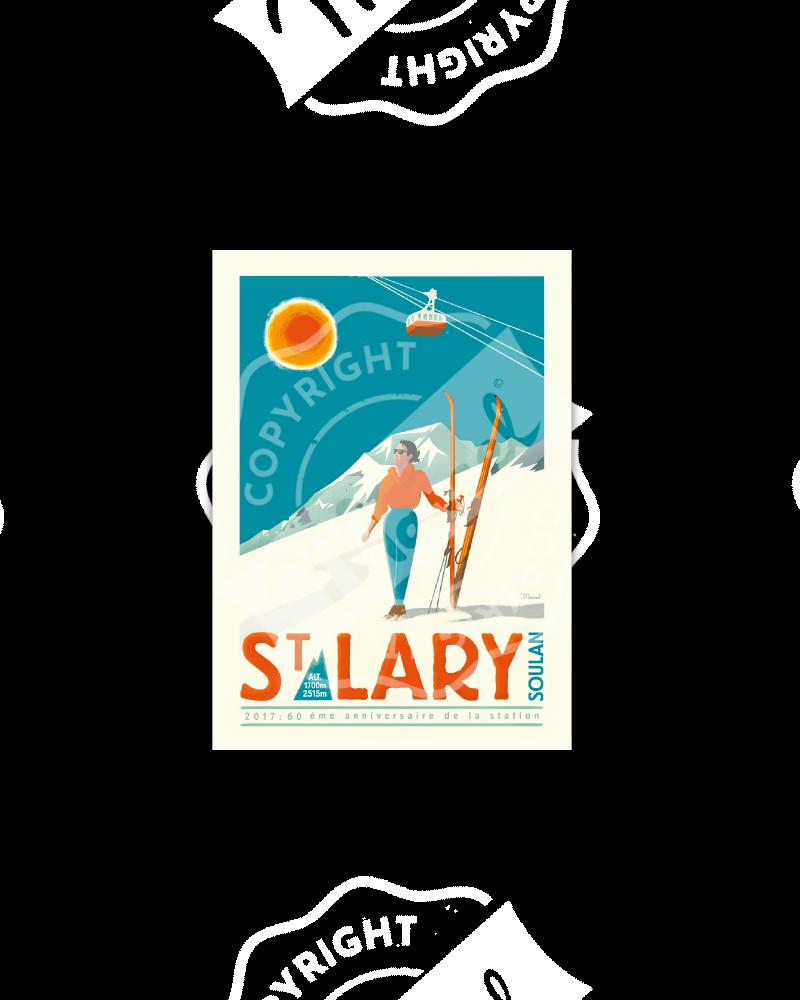 """Postcard  ST LARY """"60ème..."""