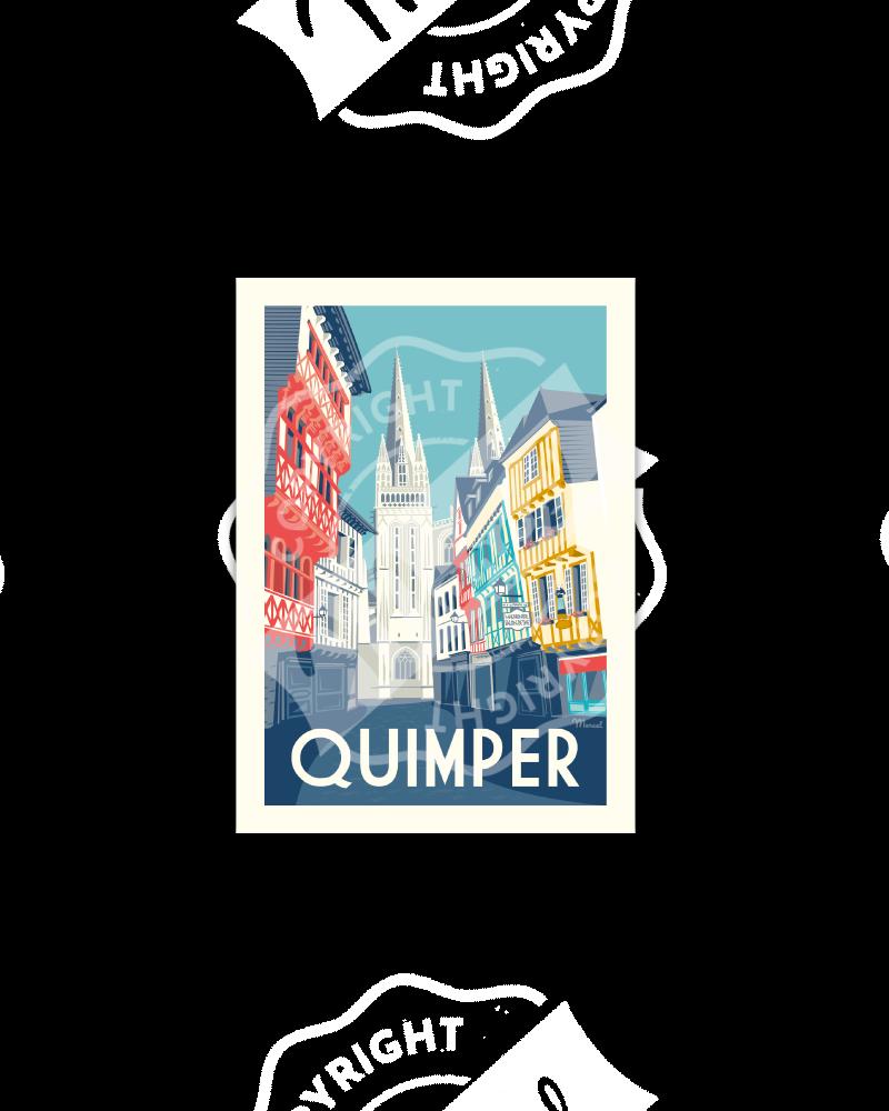 """Postcard  QUIMPER """"Rue Kéréon"""""""