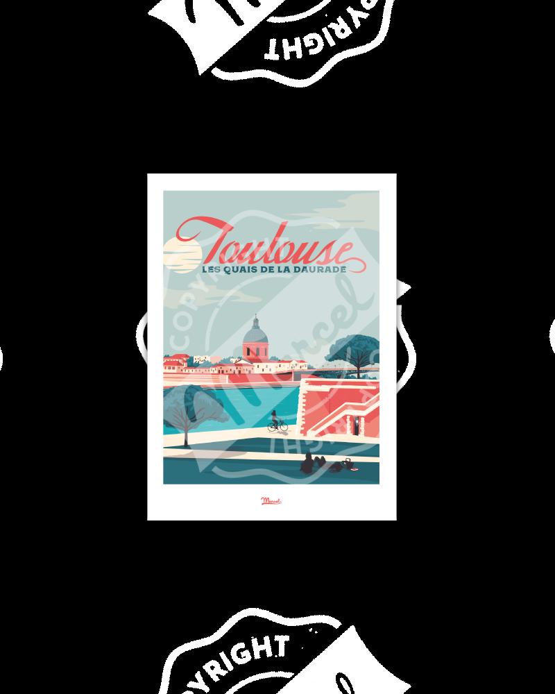 "Postcard  TOULOUSE ""Quais..."