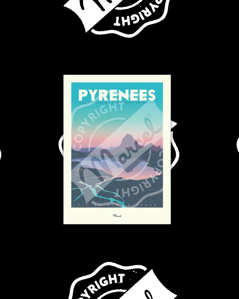 "Postcard  PYRENEES ""Lacs..."