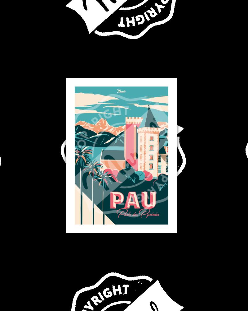 "Carte Postale PAU ""Porte des Pyrénées"""