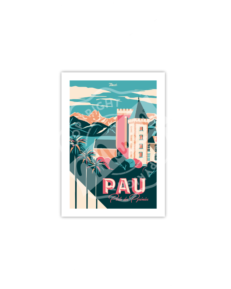 "Postcard  PAU ""Porte des..."