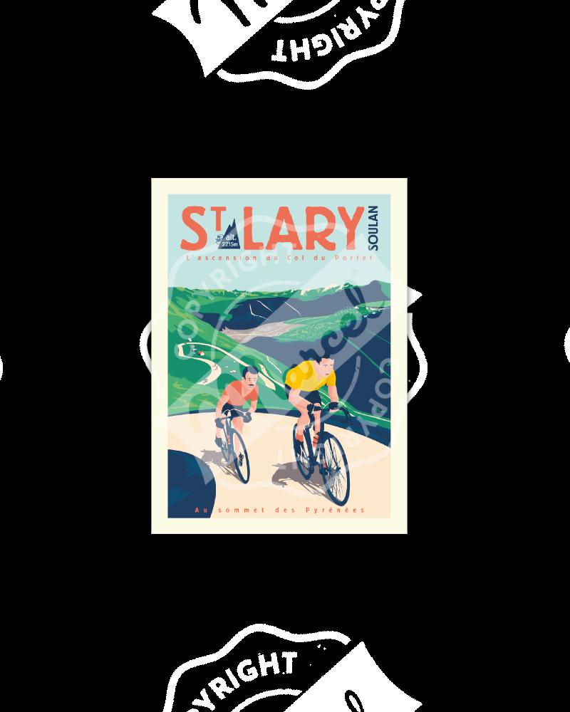 "Carte Postale ST LARY ""Col du Portet"""