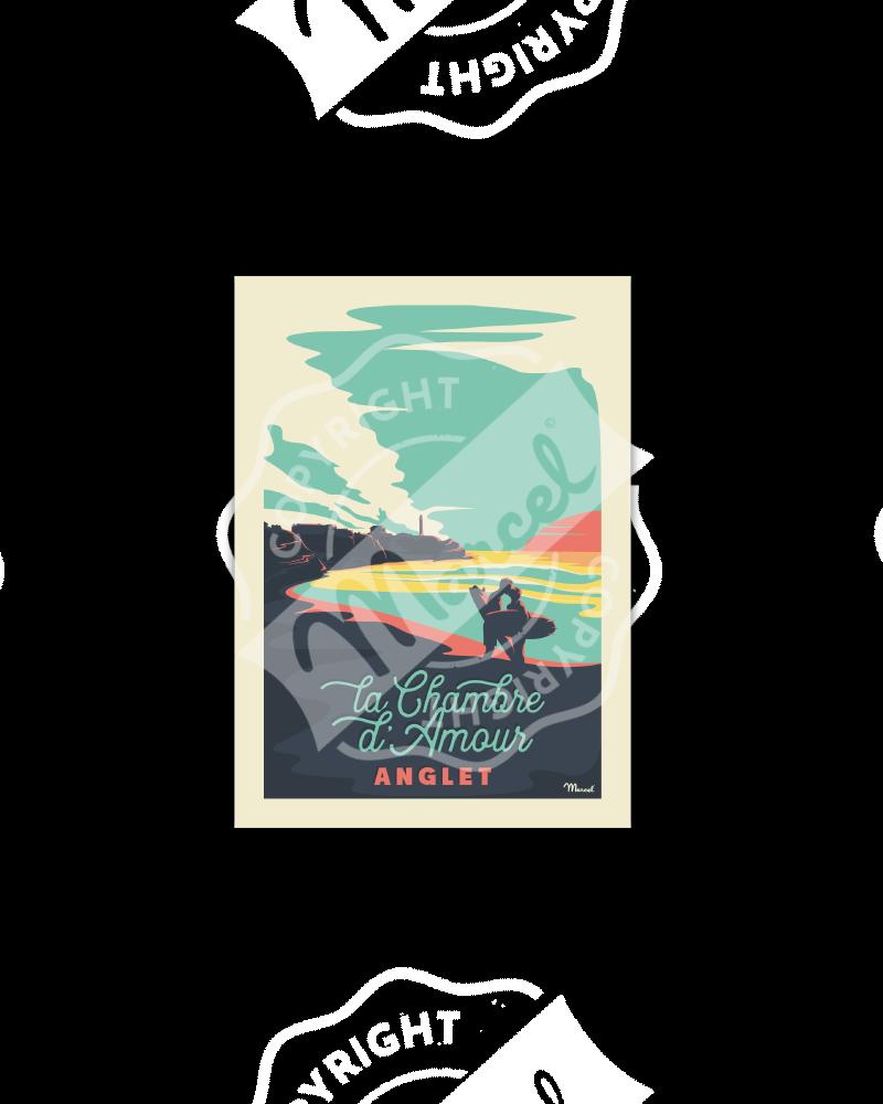 "Postcard  ANGLET ""Chambre..."