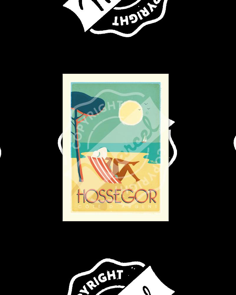 "Carte Postale  HOSSEGOR ""Côte d'Argent"""