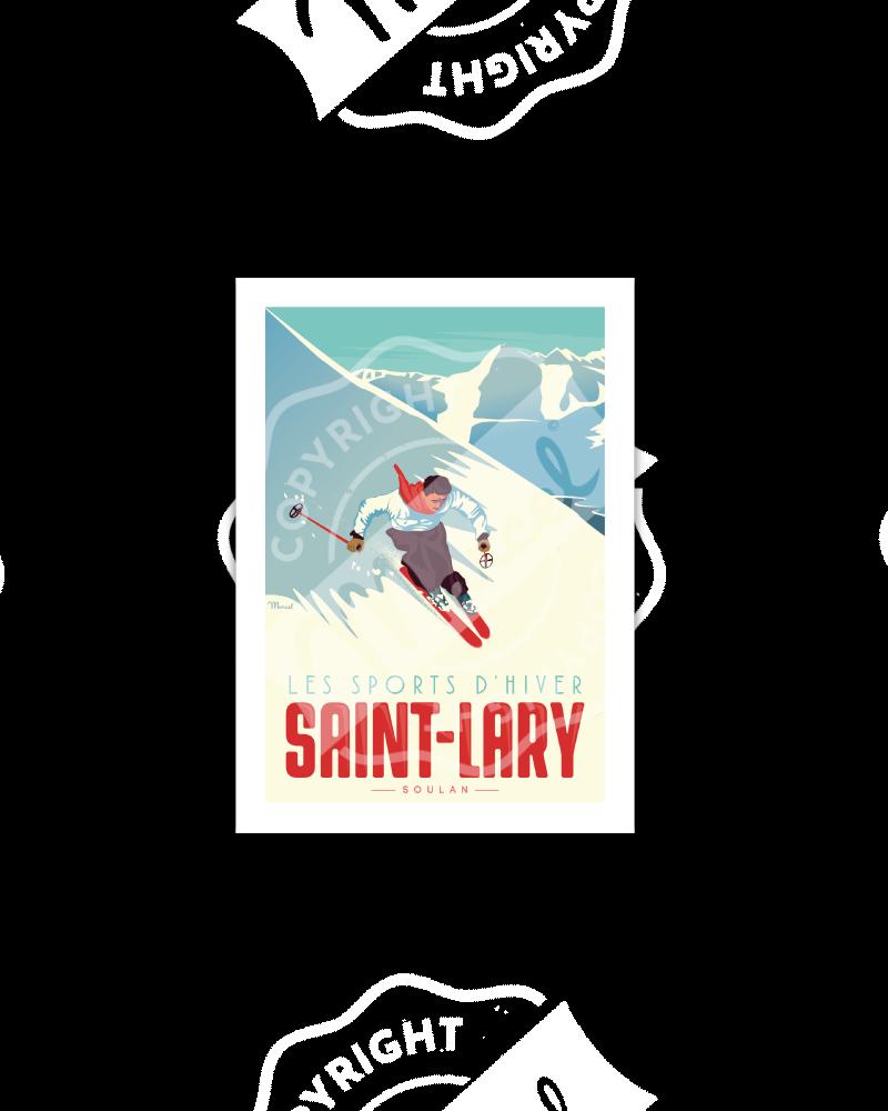 "SAINT LARY ""le skieur"""