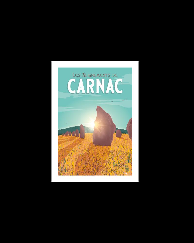 """Carte Postale CARNAC """"Les Alignements"""""""