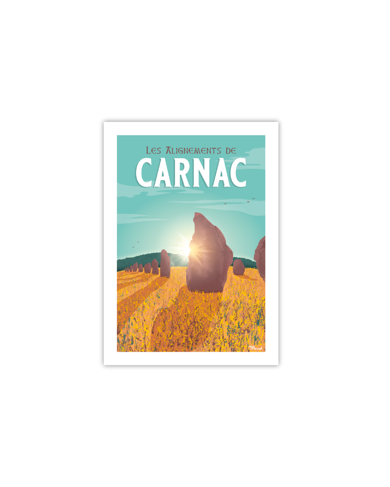 "Postcard CARNAC ""Les..."