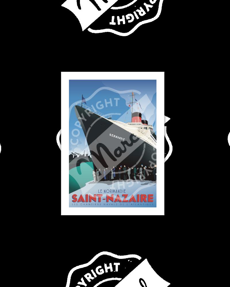 """Carte Postale SAINT-NAZAIRE """"Le Normandie"""""""