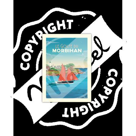 "Carte Postale GOLFE DU MORBIHAN ""Port Navalo"""