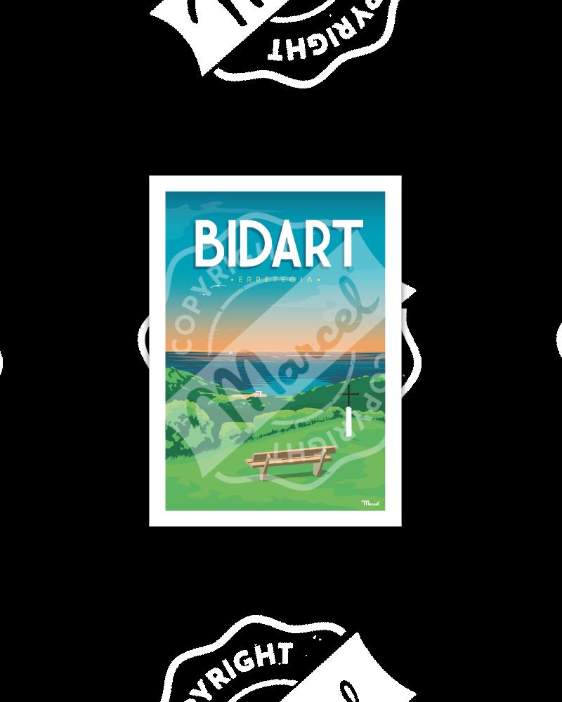 Postcard BIDART ERRETEGIA