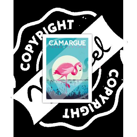 """Carte Postale CAMARGUE """"Flamingos"""""""