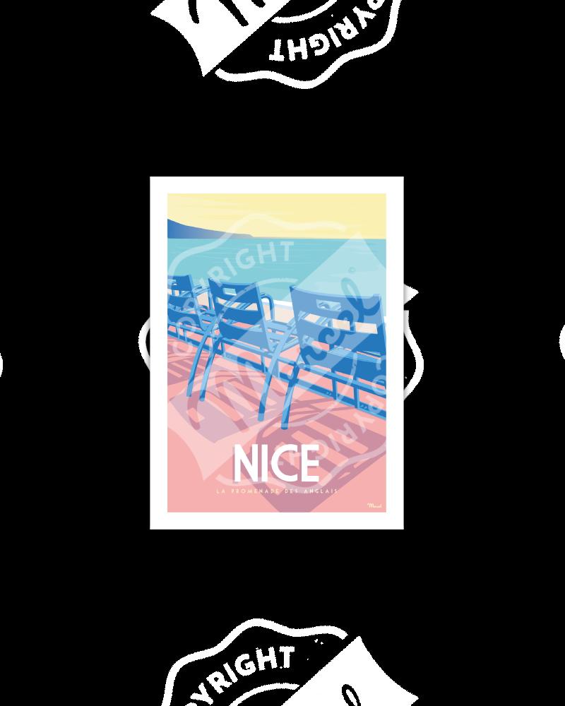 """Postcard Nice """"La promenade..."""
