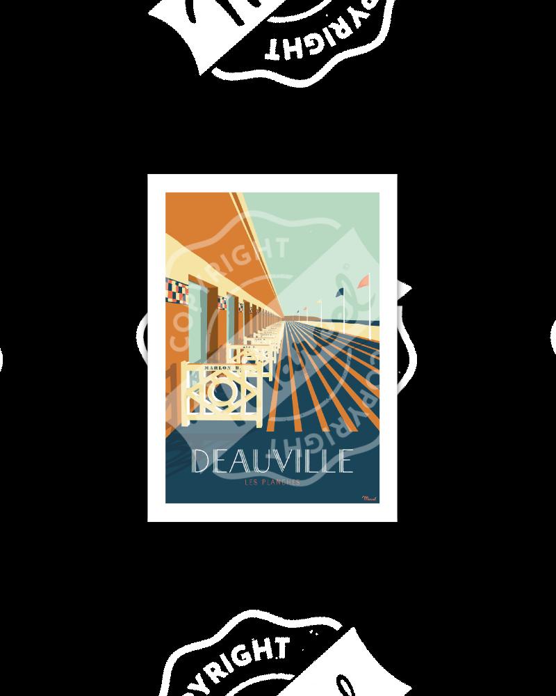"""Carte Postale Marcel Deauville """"Les Planches"""""""