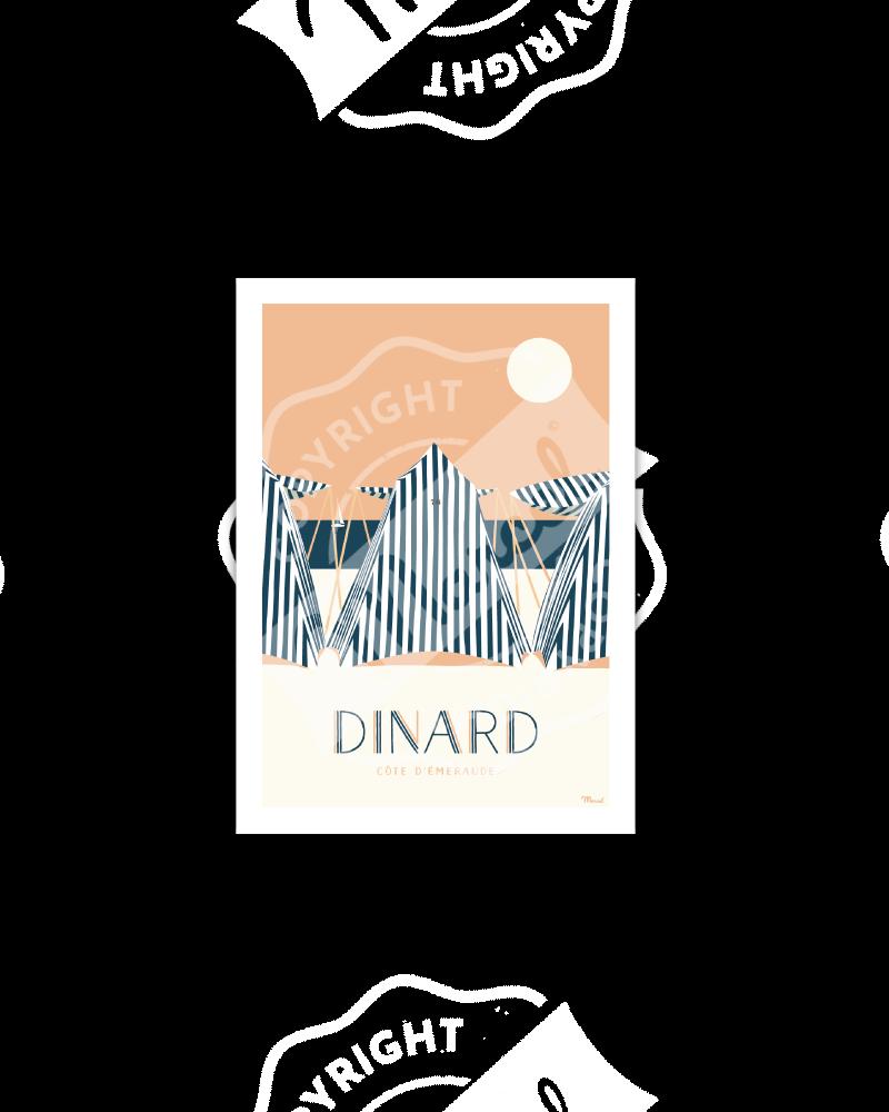 """Carte Postale Marcel Dinard """"Côte d'Emeraude"""""""