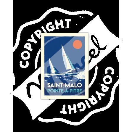 Carte Postale Marcel ST MALO / Point-à-Pitre