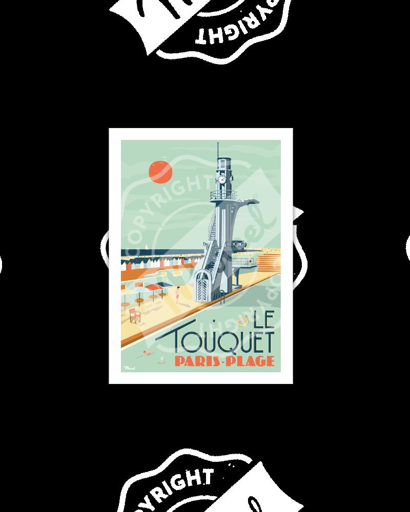 """Cartes Postales Marcel Le Touquet """"Paris-Plage"""""""