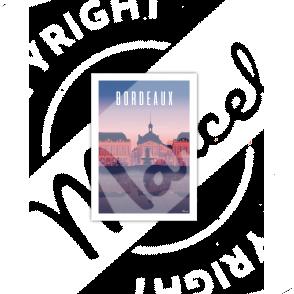 """Cartes Postales Marcel BORDEAUX """"Place de la Bourse by night"""""""