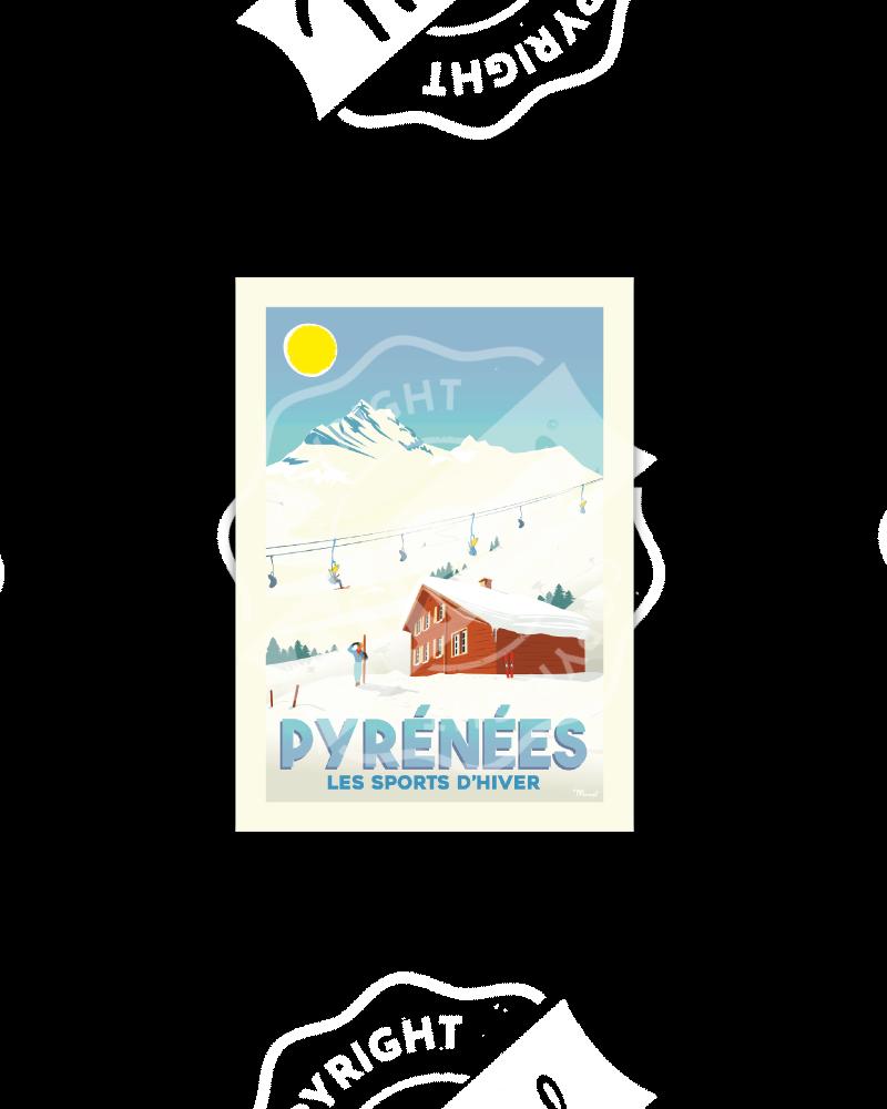 "Postcard PYRENEES ""Les..."