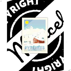 "Cartes Postales Marcel PYRENEES ""Les Sports d'Hiver"""