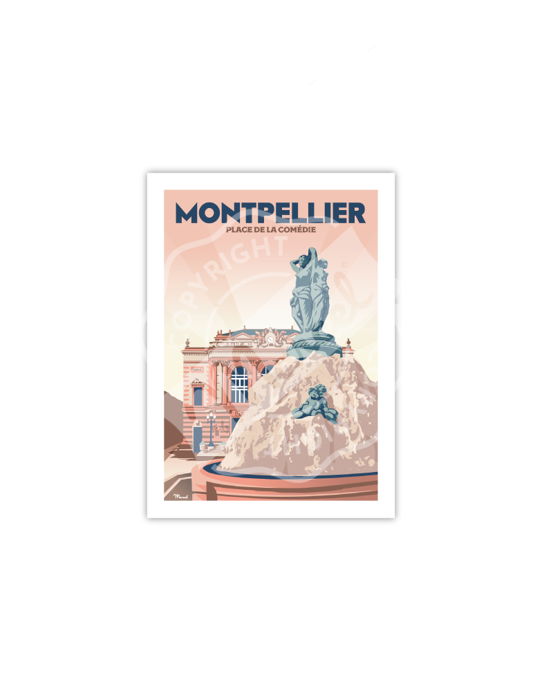 "Postcard MONTPELLIER ""Place..."
