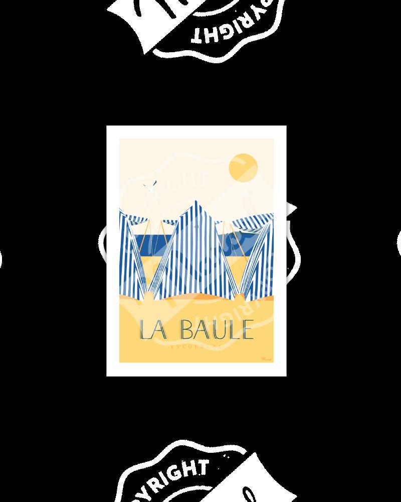 "Postcard LA BAULE ""Les Tentes"""