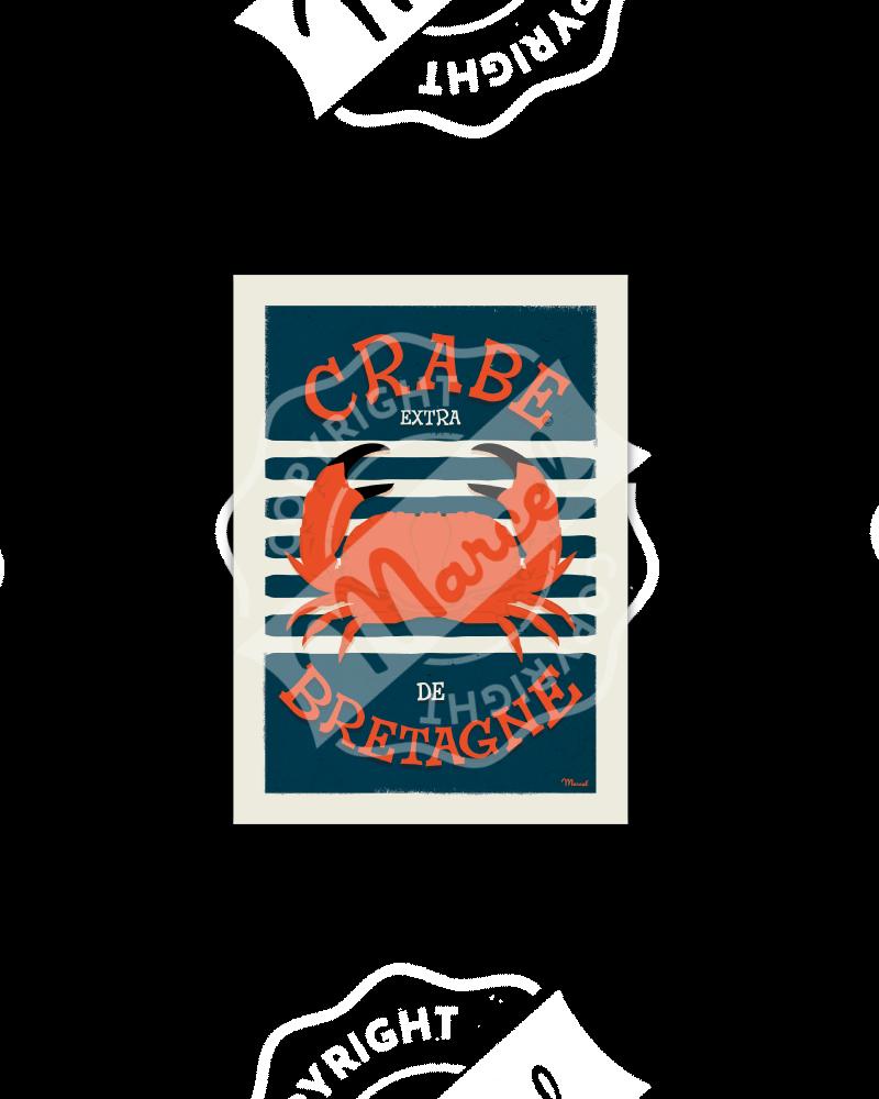 Postcard CRABE DE BRETAGNE