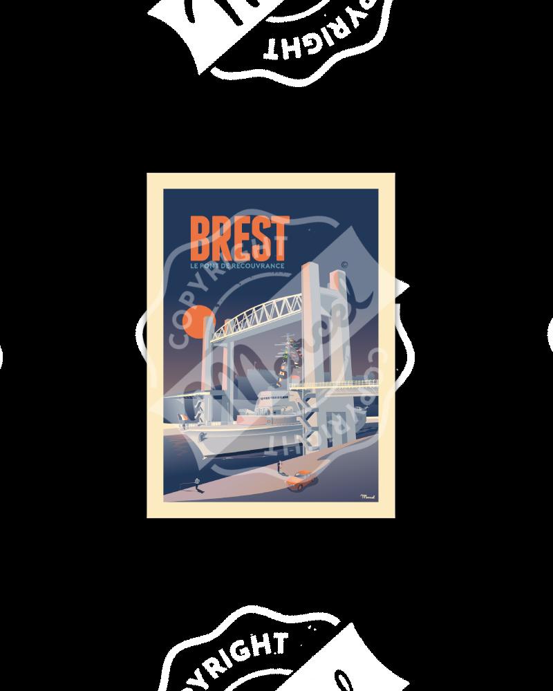 """Cartes Postales Marcel BREST """"Le Pont de Recouvrance"""""""