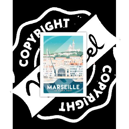 """Cartes Postales Marcel MARSEILLE """"Le Vieux Port"""""""