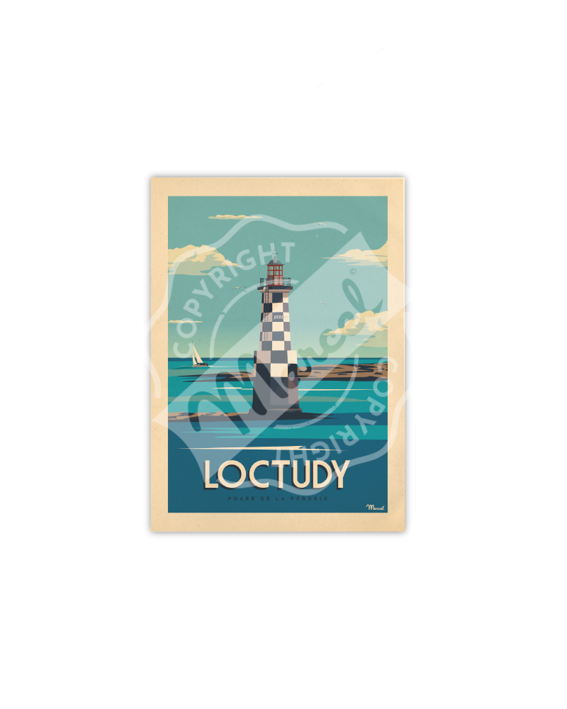 Carte Postale LOCTUDY «Phare de la Perdrix»
