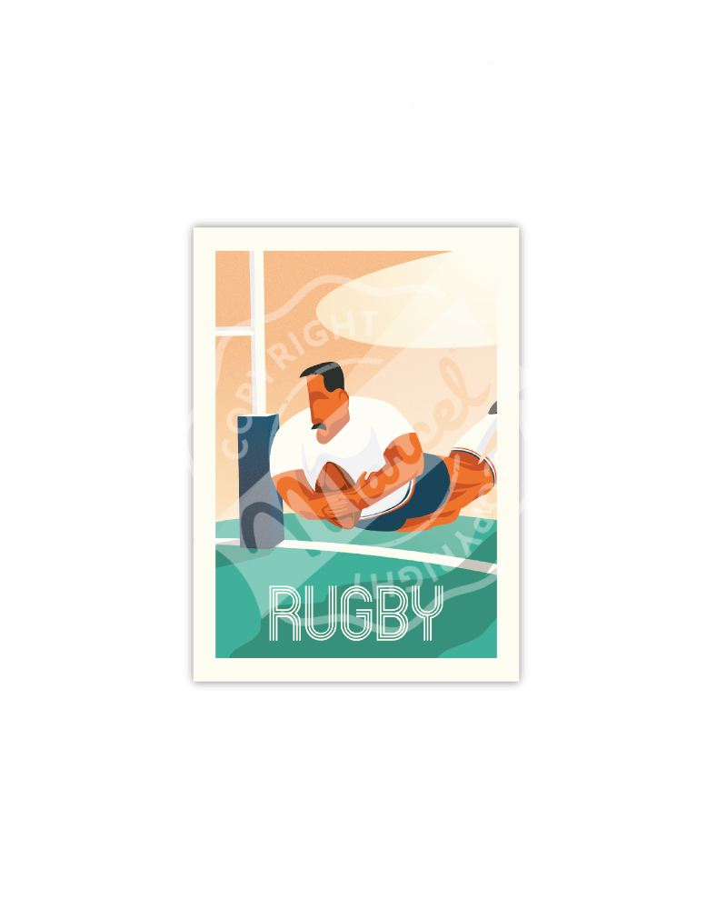 Postcard RUGBY