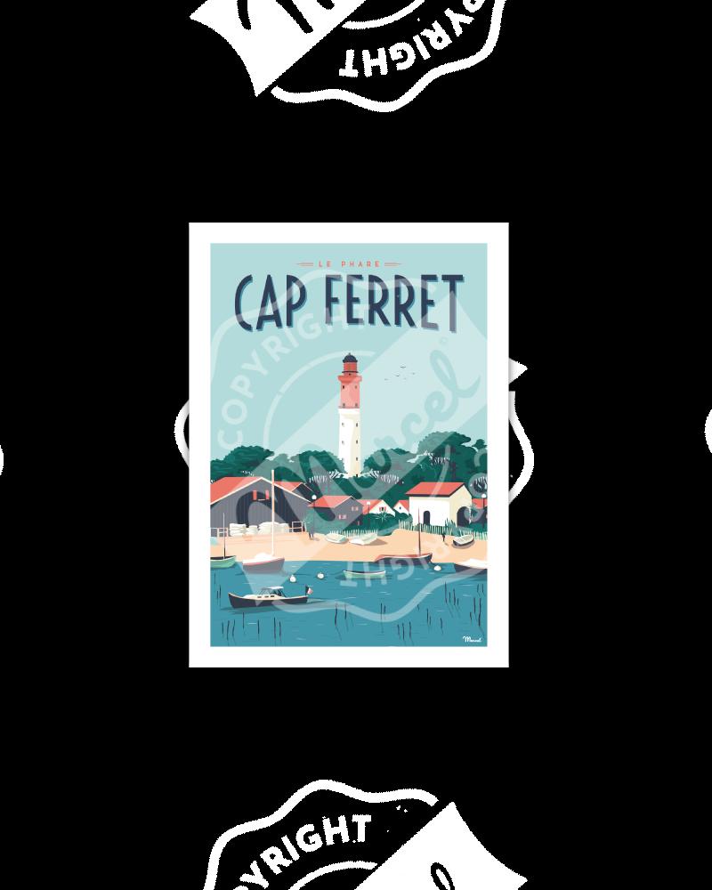 "Postcard CAP FERRET ""Le Phare"""