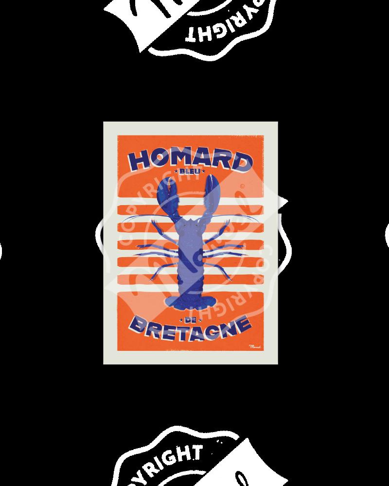 Postcard HOMARD BLEU DE...