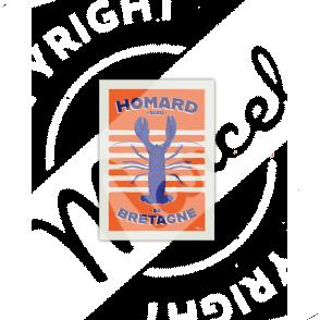 Cartes Postales Marcel HOMARD BLEU DE BRETAGNE