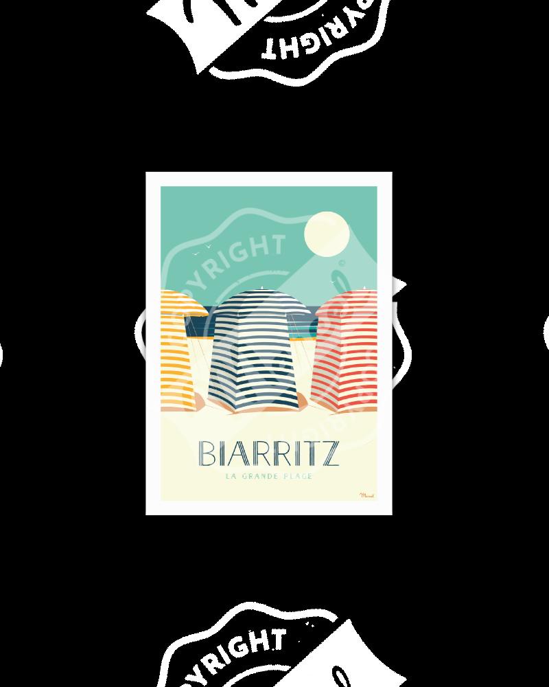 """Cartes Postales Marcel BIARRITZ """"Les Tentes"""""""