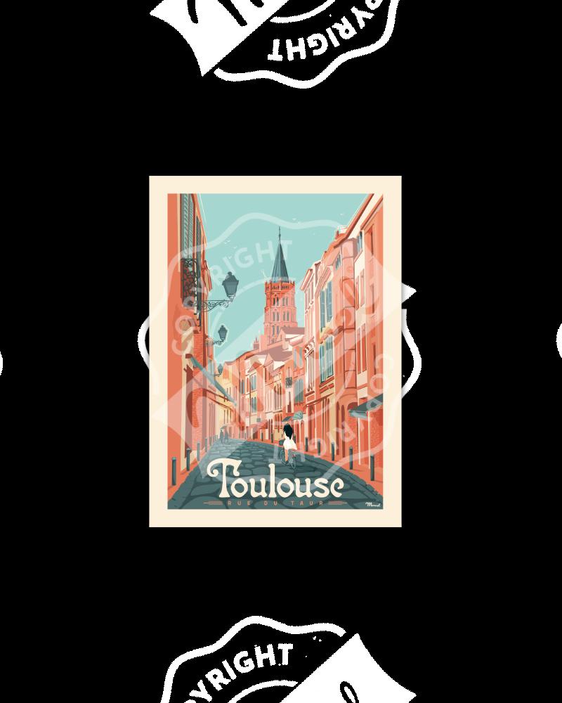 Cartes Postales Marcel TOULOUSE Rue du Taur