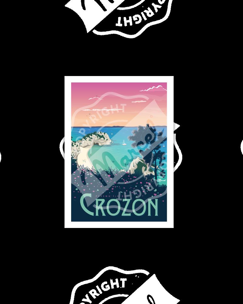 """Cartes Postales Marcel CROZON """"PLAGE DE L'ÎLE VIERGE"""""""