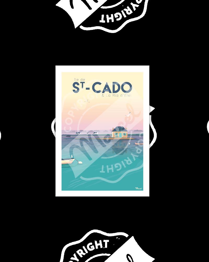 """Postcard ST CADO """"LA RIA..."""