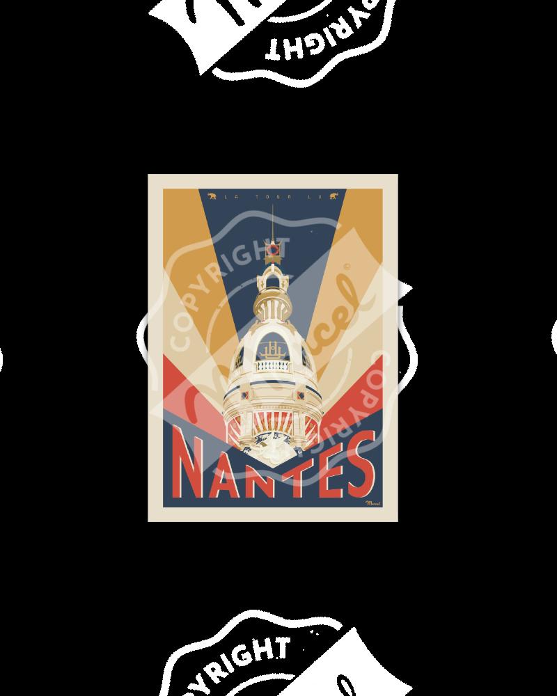 Postcard NANTES La Tour LU