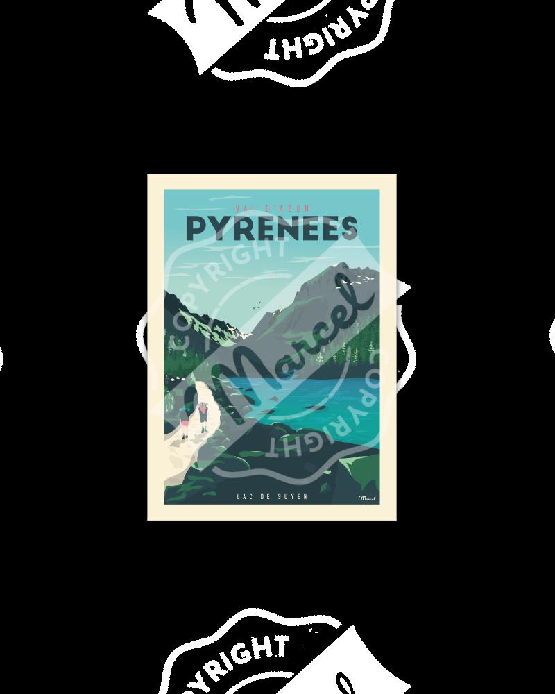 "Cartes Postales Marcel PYRENEES ""VAL D'AZUN - LAC DE SUYEN"""