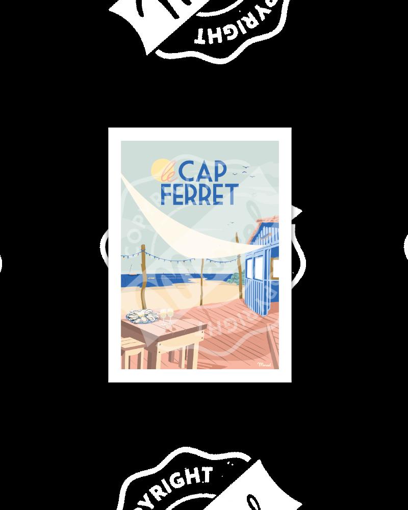 Postcard CAP FERRET Cabane...