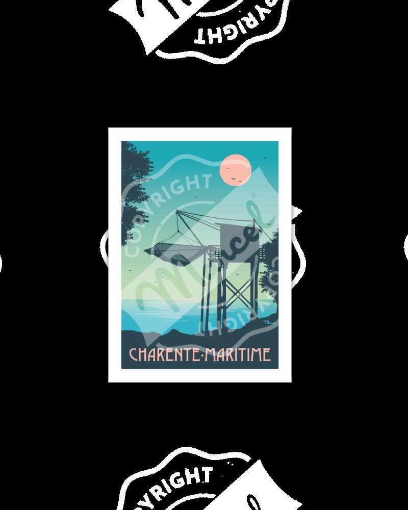 "Cartes Postales Marcel CHARENTE MARITIME ""Le Carrelet"""