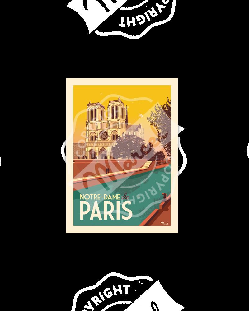 Cartes Postales Marcel NOTRE-DAME DE PARIS
