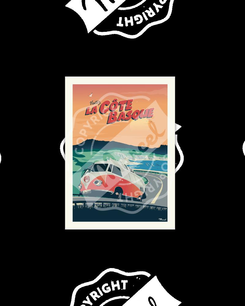 Cartes Postales Marcel COTE BASQUE Van Corniche
