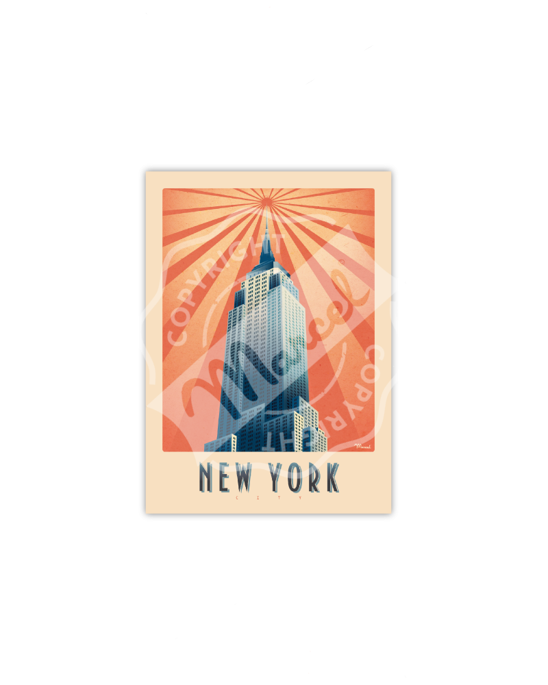 Cartes Postales Marcel NEW YORK EMPIRE STATE BUILDING