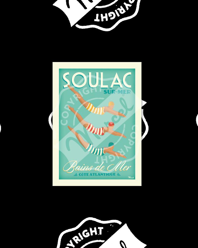 """Postcard  SOULAC """"Bains de..."""