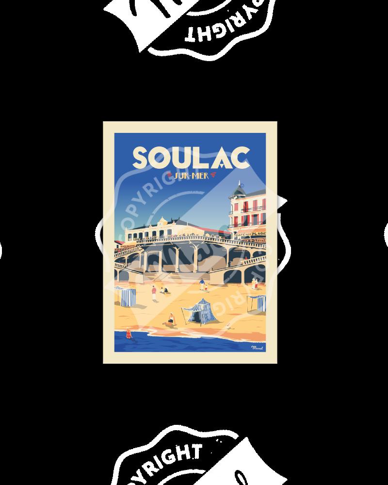 Postcard  SOULAC Le Ponton