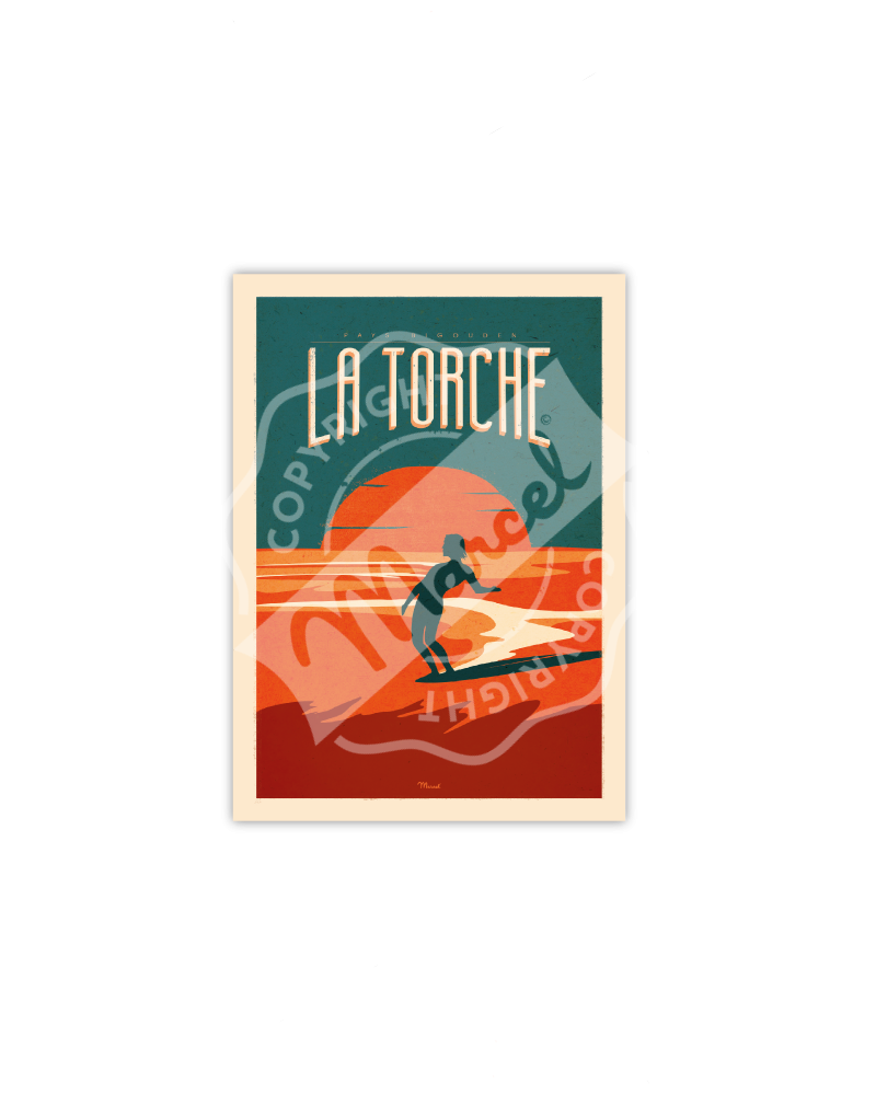Postcard  La Torche Surfing